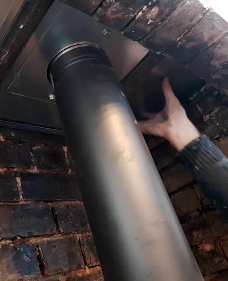 Installing a wood burning stove