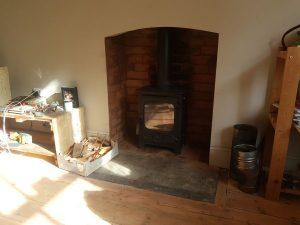 Woodburner installation Milverton