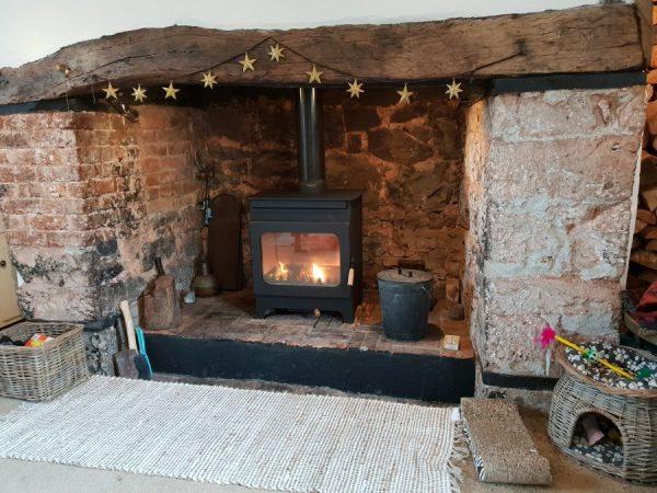 wood burner installation in Somerset