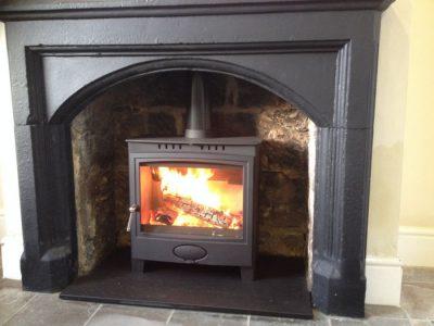 Wood burner installation Taunton